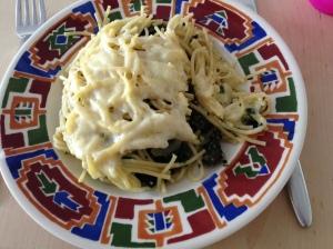 Spinazie gehakt pasta ovenschotel
