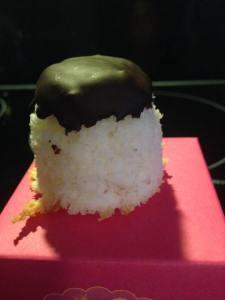 """""""gedoopt"""" kokosmakroontje"""